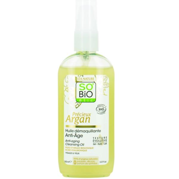 Βιολογικό Έλαιο Καθαρισμού Προσώπου/Ματιών με Argan & Yαλουρονικό Οξύ 150ml, So Bio