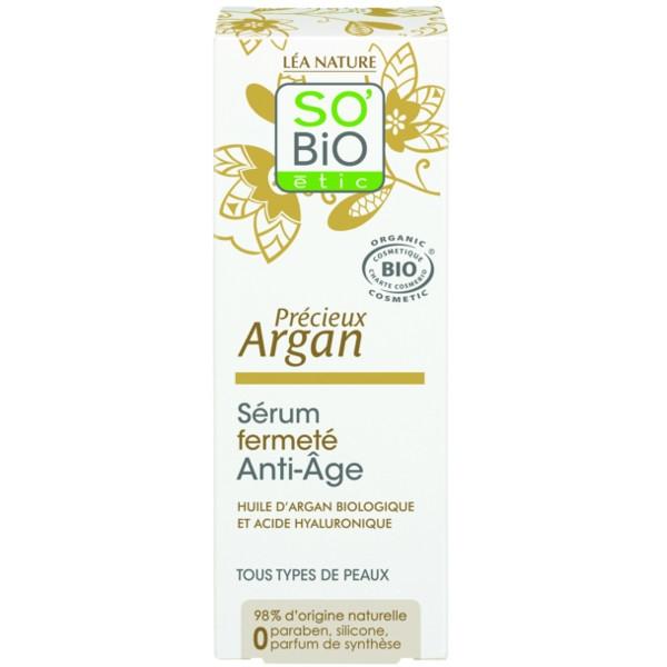 Βιολογικό Σέρουμ Σύσφιξης Προσώπου με Argan & Yαλουρονικό Οξύ 50ml, So Bio