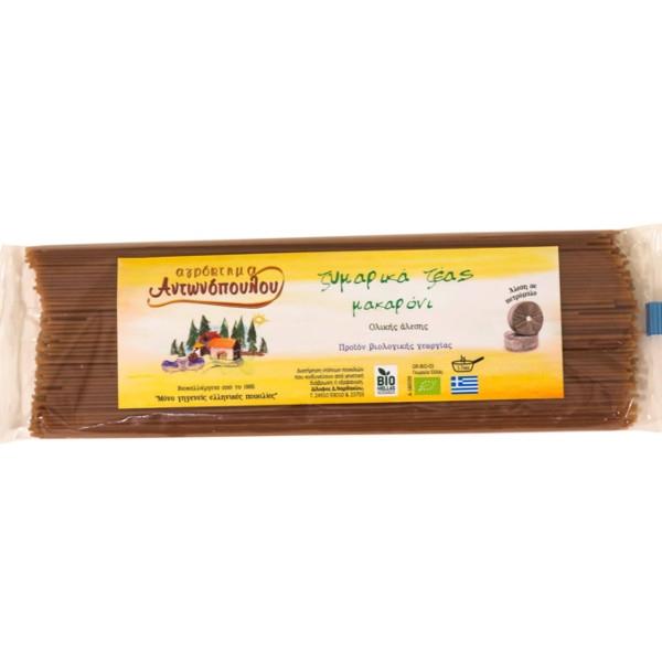 Βιολογικό Σπαγγέτι (Μακαρόνι) Ζέας Ολικής Αλέσεως, 400 γρ., Bio, Αντωνόπουλου