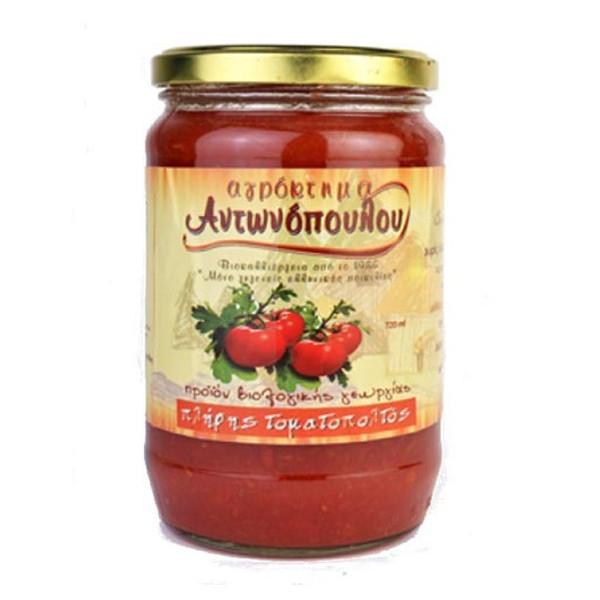 Βιολογικός Ντοματοπολτός Bio 720ml, Ελληνικός, Αγρόκτημα Αντωνόπουλου