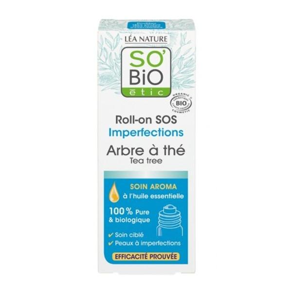 SOS Roll-On με Τεϊόδεντρο για τα Σπυράκια, 5ml, So Bio