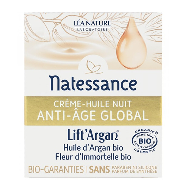 Αντιγηραντική Κρέμα Νυχτός, Anti-Age Global, 50 ml, Bio, Lift'Argan