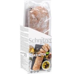 Βιολογικό Ψωμί Τσιαπάτα με Ελιές Bio 360γρ., Schnitzer