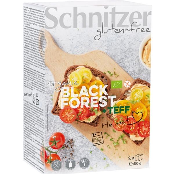 Βιολογικό Μαύρο Black Forest με Σπόρους Κολοκύθας Bio Χωρίς Γλουτένη 500γρ., Schnitzer