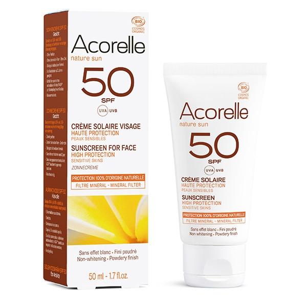 Αντηλιακή Κρέμα Προσώπου SPF 50, 50ml, Bio, Acorelle