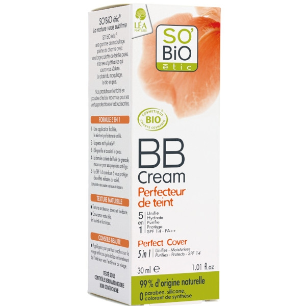 Βιολογική BB Cream Perfecteur du teint, 02 Beige Eclat SPF10, 30ml, So Bio