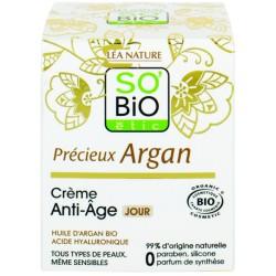 Αντιγηραντική Κρέμα Ημέρας με Αργκάν & Υαλουρονικό, 50ml, So Bio