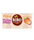Γιαούρτι Καρύδας με Ροδάκινο & Φρούτα του Πάθους 2Χ125γρ Koko Dairy Free