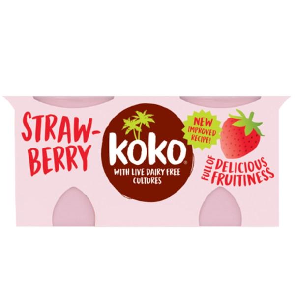Γιαούρτι Καρύδας με Φράουλα 2Χ125γρ Koko Dairy Free