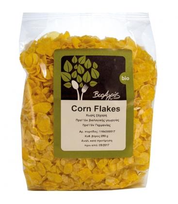 Βιολογικές Νιφάδες Καλαμποκιού Χωρίς Ζάχαρη (Cornflakes) 250γρ. Bio, Βιοαγρος