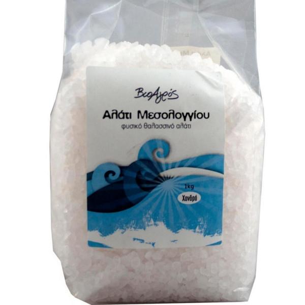 Αλάτι Μεσολογγίου Χονδρό 1 κιλό Βιοαγρός