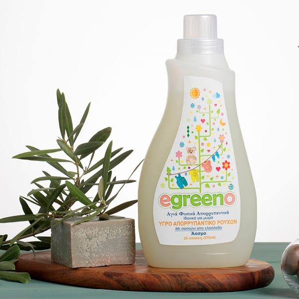 Υγρό Απορρυπαντικό Ρούχων Χωρίς Άρωμα, 970 ml, Egreeno