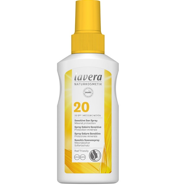 Αντηλιακό Sensitive Sun Spray, SPF20, 100ml, Bio, Lavera