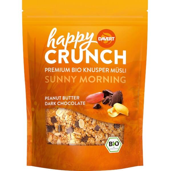 Βιολογικό Happy Crunch με Φυστικοβούτυρο & Μαύρη Σοκολάτα, 325 γρ., Bio, Davert