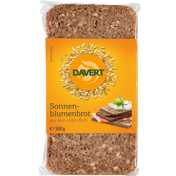 Βιολογικό Ψωμί Σίκαλης Ολικής Άλεσης με Ηλιόσπορους, 500 γρ., Bio, Davert
