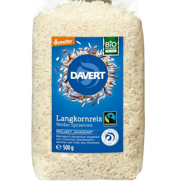 Μακρύκοκκο αποφλοιωμένο ρύζι demeter Fairtrade