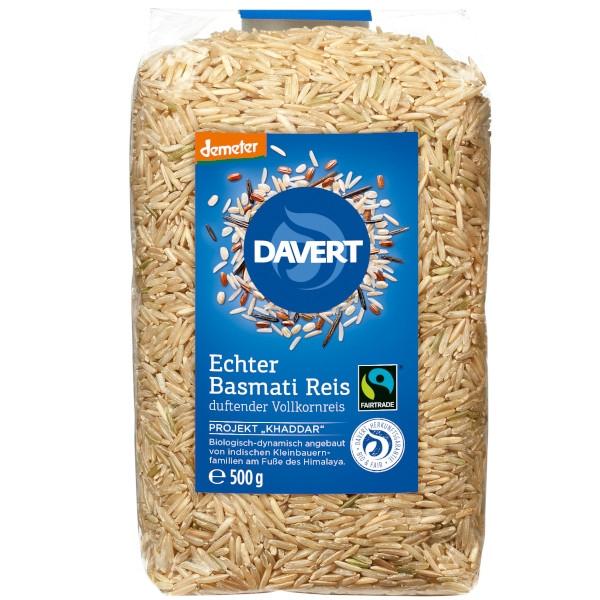 Βιολογικό Ρύζι Μπασμάτι Αναποφλοίωτο, Demeter & Fairtrade, 500γρ., Bio, Davert