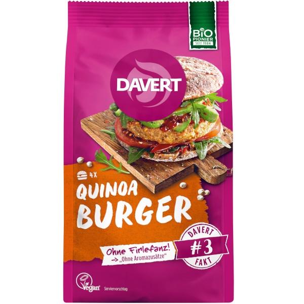 Βιολογικό Quinoa Burger, Vegan, 160γρ., Bio, Davert
