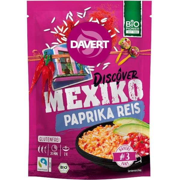 Έτοιμο Γεύμα με Ρύζι, Mexico Paprica Rice, 125 γρ., Bio, Davert