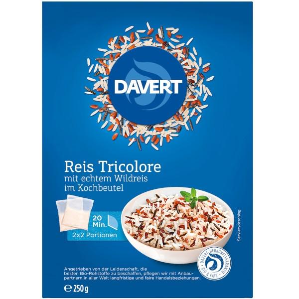 Ρύζι Τρίχρωμο με Άγριο Ρύζι σε Σακκουλάκι Βρασμού, 250 γρ., Bio, Davert