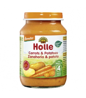 Βιολογικό Καρότο Πατάτα σε Βαζάκι 190γρ. Bio, Holle