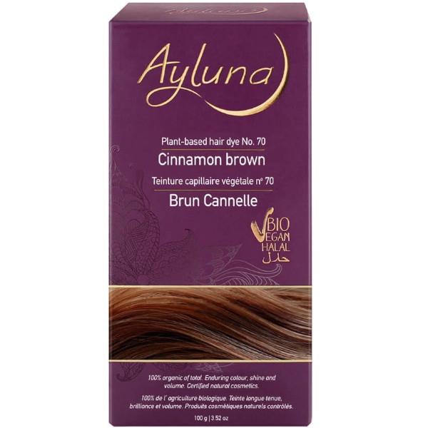 Βιολογική Βαφή Μαλλιών Cinnamon Brown, 100 γρ., Βio, Ayluna