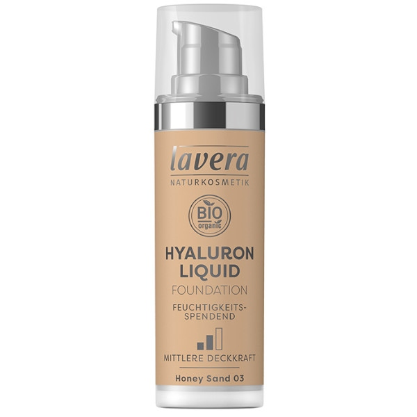 Υγρό Make-up Hyaluron Νο3, 30 ml, Bio, Lavera