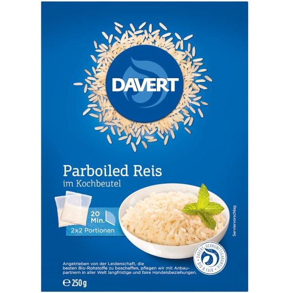 Βιολογικό Ρύζι Parboiled σε Σακουλάκι Βρασμού, 250 γρ., Bio, Davert