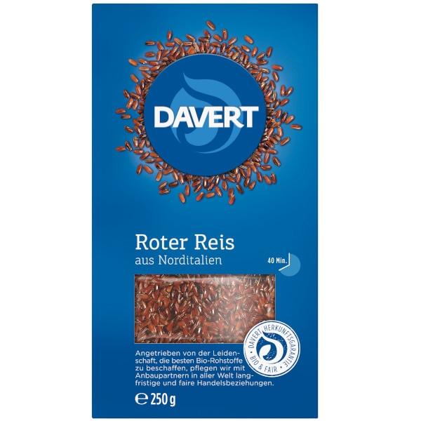 Βιολογικό Κόκκινο Ρύζι 250γρ., Bio, Davert