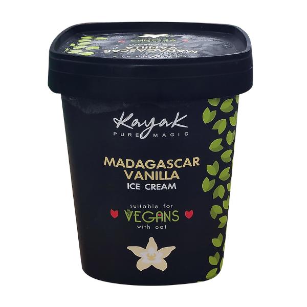 Παγωτό Βανίλια Μαδαγασκάρης Vegan, 500ml, Kayak