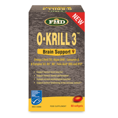 O-Krill 3 Brain Support, 60 softgels, Udo's Choice