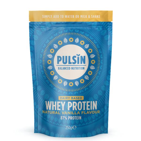 Πρωτεΐνη Ορού Γάλακτος με Βανίλια, 250γρ., Pulsin
