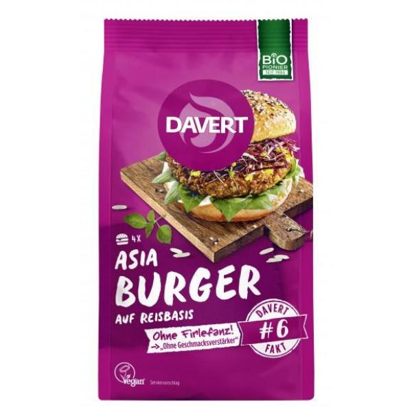 Βιολογικά Asia Burger, Vegan, 160γρ., Bio, Davert