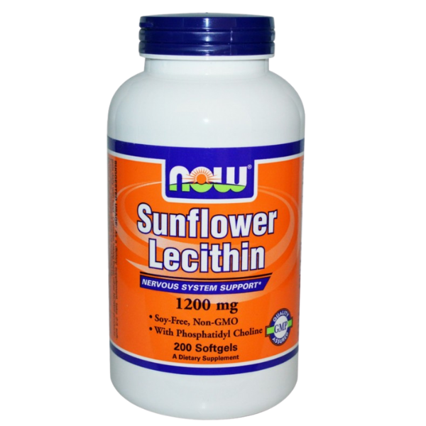 Sunflower Lecithin 1200 mg NON-GMO200 Softgels, Now Foods