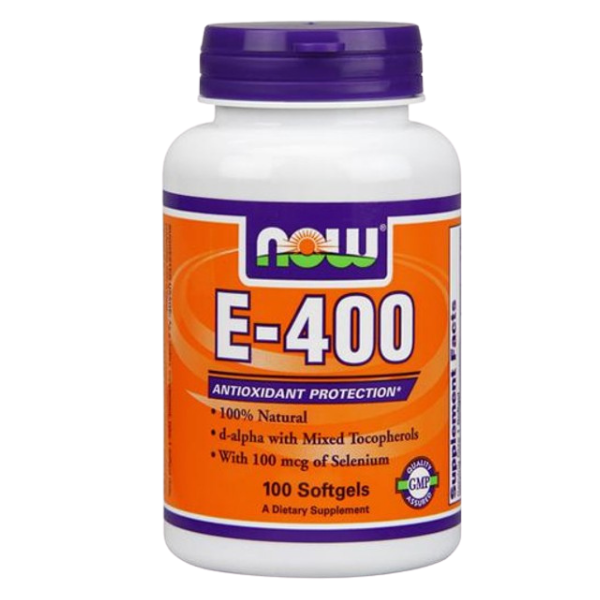 E-400 Iu & Selenium 100 Mcg - 100 Softgels, Now