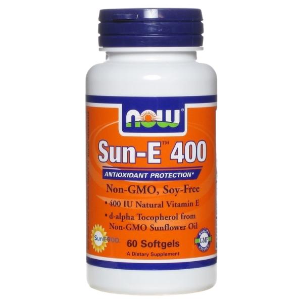 Sun- E 400 Βιταμίνη Ε 60 Softgels, Now