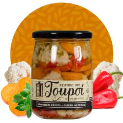 Χειροποίητο Τουρσί με Κουνουπίδι, Καρότο και Πιπεριά Φλωρίνης, 330γρ., Γουμένισσες
