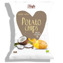 Βιολογικά Τσιπς Πατάτας σε Λάδι Καρύδας, 100γρ., Bio, Trafo