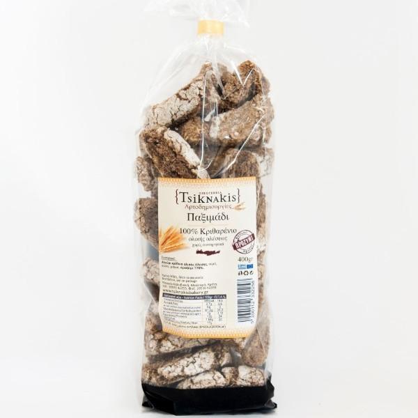 Βιολογικό 100% Κρίθινο Παξιμάδι, 400 γρ., Bio, Τσικνάκης