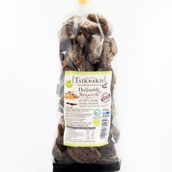 Βιολογικό Παξιμάδi από Χαρούπι, 400 γρ., Bio, Τσικνάκης