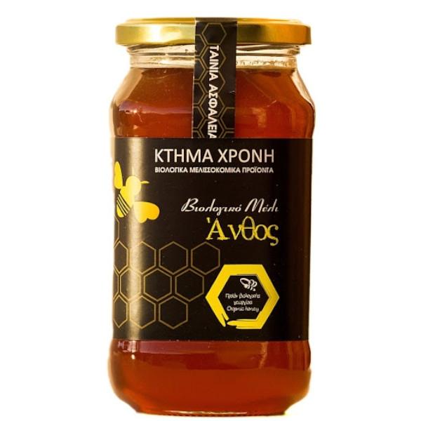 Βιολογικό Μέλι Άνθος, 630 γρ., Bio, Ελληνικό, Κτήμα Χρόνη