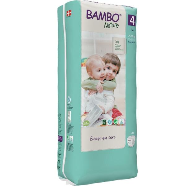 Βρεφικές Πάνες Νο4, για 7-14 κιλά, 48 τεμάχια, Bambo Nature