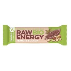 Βιολογική Μπάρα Ενέργειας Raw, με Φυστίκι & Κακάο, 50 γρ., Bombus