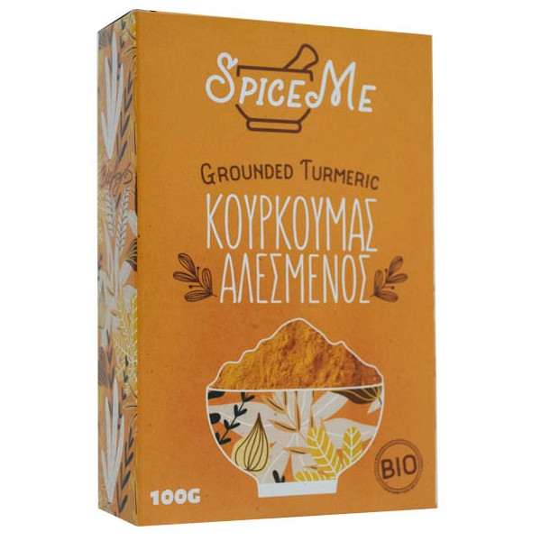 Βιολογικός Κουρκουμάς, 100 γρ., Bio, Spice Me Bio