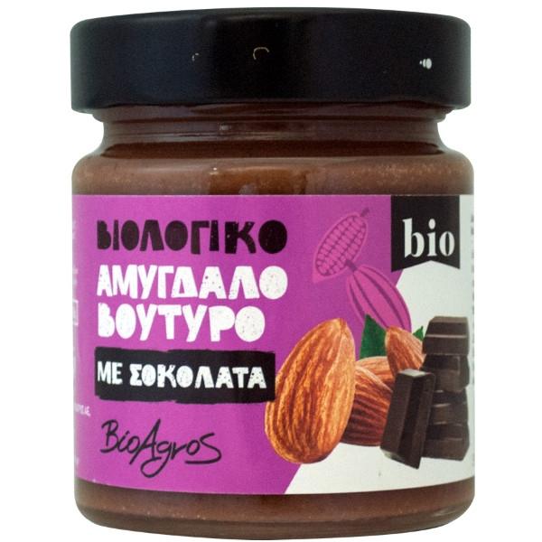 Βιολογικό Αμυγδαλοβούτυρο με Μαύρη Σοκολάτα 180 γρ., Bio, Βιοαγρός
