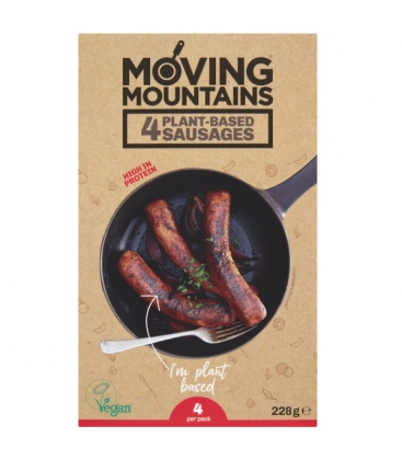 Vegan Λουκάνικο Bratwurst 4X57 γρ., Moving Mountains