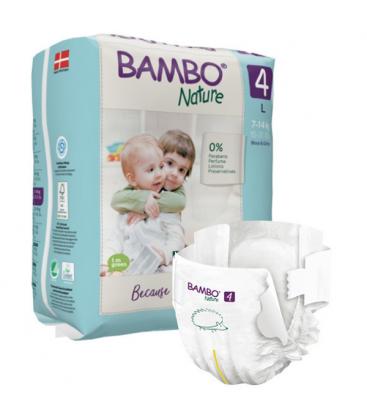 Βρεφικές Πάνες Νο4, για 7-14 κιλά, 24 τεμάχια, Bambo Nature