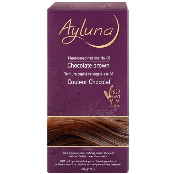 Βιολογική Βαφή Μαλλιών, Chocolate Brown N 85, 100γρ., Bio, Ayluna