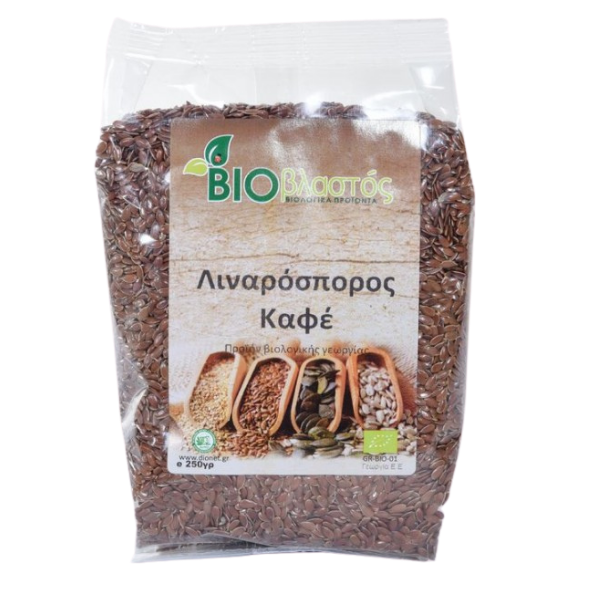 Βιολογικός Λιναρόσπορος Καφέ, 250 γρ., Bio, Βιοβλαστός