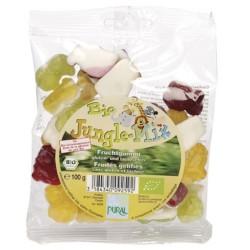 Βιολογικά Ζελεδάκια με Γεύση Φρούτων, Jungle, Χωρίς Γλουτένη, 100γρ., Bio, Pural